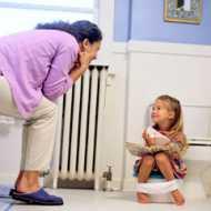 A mom potty training